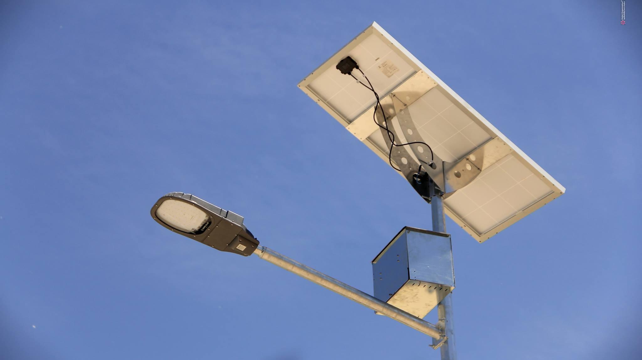 مطالب تصنيع آليات لصيانة أعمدة الإنارة عن طريق طاقة الشمس